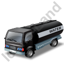 Water Tank Truck Black Icon, PNG/ICO, 128x128