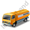 Water Tank Truck Yellow Icon, PNG/ICO, 128x128