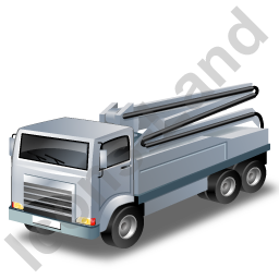 Concrete Pump Grey Icon