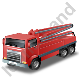 Concrete Pump Red Icon, PNG/ICO, 256x256