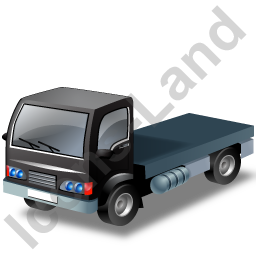 Lorry Cab Black Icon, PNG/ICO, 256x256