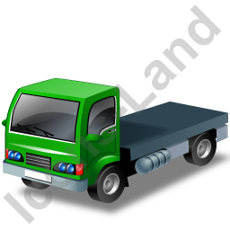 Lorry Cab Green Icon, PNG/ICO, 256x256
