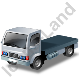Lorry Cab Grey Icon