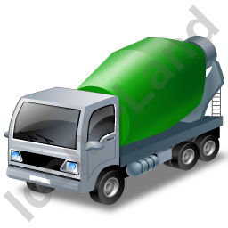 Mixer Truck 2 Green Icon, PNG/ICO, 256x256