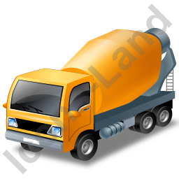 Mixer Truck Yellow Icon, PNG/ICO, 256x256