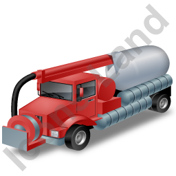 Sewer Cleaning Truck Red Icon