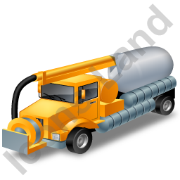 Sewer Cleaning Truck Yellow Icon
