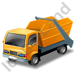 Skip Truck Yellow Icon, PNG/ICO, 256x256