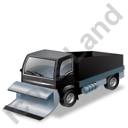 Snow Plow Truck Black Icon