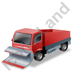 Snow Plow Truck Red Icon