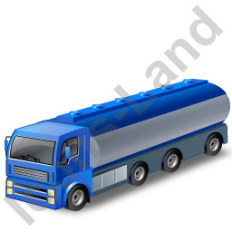 Tanker Truck Blue Icon