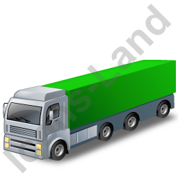 Tractor Trailer 2 Green Icon, PNG/ICO, 256x256