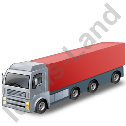 Tractor Trailer 2 Red Icon
