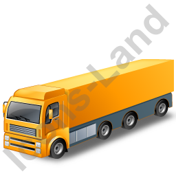 Tractor Trailer Yellow Icon, PNG/ICO, 256x256