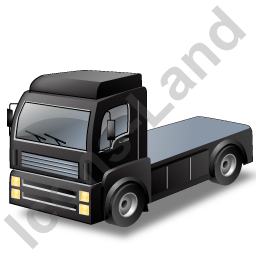 Tractor Unit Black Icon, PNG/ICO, 256x256