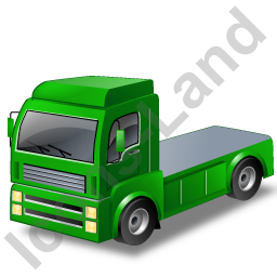 Tractor Unit Green Icon, PNG/ICO, 256x256