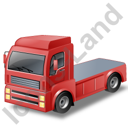 Tractor Unit Red Icon
