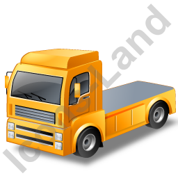 Tractor Unit Yellow Icon, PNG/ICO, 256x256