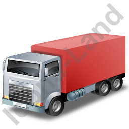 Truck Red Icon, PNG/ICO, 256x256