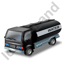 Water Tank Truck Black Icon, PNG/ICO, 256x256
