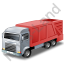 Bin Truck Red Icon