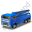 Concrete Pump Blue Icon