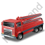 Concrete Pump Red Icon, PNG/ICO, 64x64