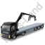 Flatbed Truck Loader Crane Head Black Icon, PNG/ICO, 64x64