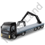 Flatbed Truck Loader Crane Rear Black Icon