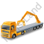 Flatbed Truck Loader Crane Rear Yellow Icon