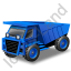 Haul Truck Blue Icon