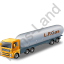 LPG Tank Truck Yellow Icon