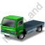 Lorry Cab Green Icon, PNG/ICO, 64x64