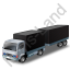 Lorry Trailer Black Icon