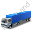 Lorry Trailer Blue Icon