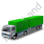 Lorry Trailer Green Icon