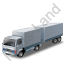 Lorry Trailer Grey Icon