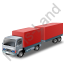 Lorry Trailer Red Icon