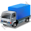 Lorry Blue Icon