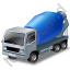 Mixer Truck 2 Blue Icon