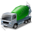 Mixer Truck 2 Green Icon, PNG/ICO, 64x64