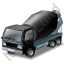 Mixer Truck Black Icon
