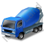 Mixer Truck Blue Icon
