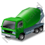 Mixer Truck Green Icon