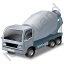 Mixer Truck Grey Icon, PNG/ICO, 64x64