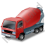 Mixer Truck Red Icon
