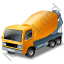 Mixer Truck Yellow Icon, PNG/ICO, 64x64