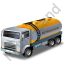 Petroleum Tank Truck Yellow Icon