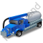 Sewer Cleaning Truck Blue Icon