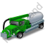 Sewer Cleaning Truck Green Icon
